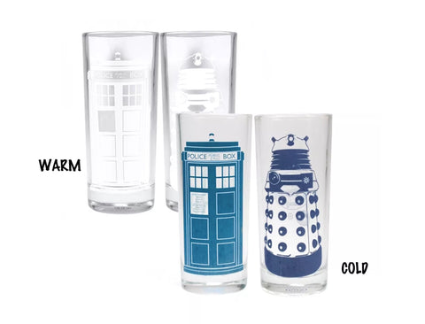 Dr who set of two cold change glasses