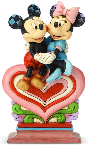 Mickey & Minnie heart to heart figurine