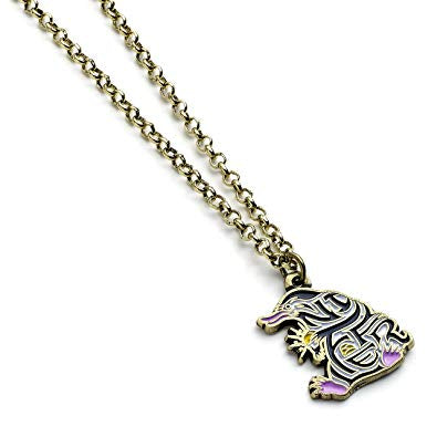 Enamelled Niffler Charm Necklace