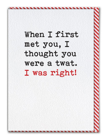 First met you card