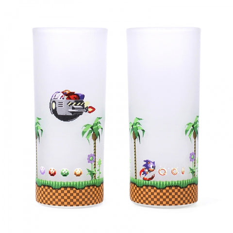 Sonic/Eggman Set of 2 Glasses