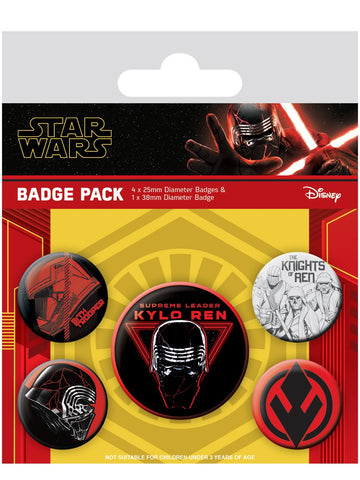 Star Wars Rise of Skywalker badge pack