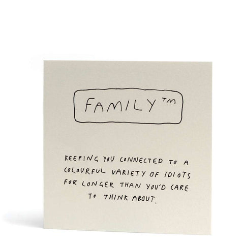 Family keeping you connected card