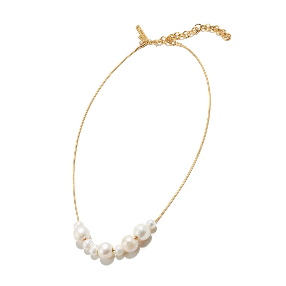 Freshwater Mixed Pearl Chain Necklace/Lele Sadoughi