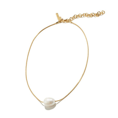Baroque Freshwater Pearl Chain Necklace/Lele Sadoughi