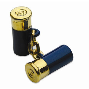12 Gauge Cufflinks in Navy/Bird Dog Bay