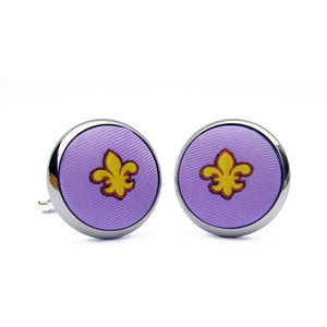 Fleur Stripe Cuff Links in Violet/Bird Dog Bay