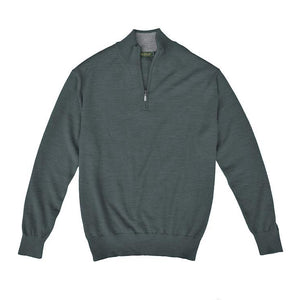 Royal Alpaca Sweater - Graphite/Bird Dog Bay