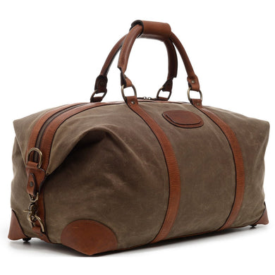 Twain Duffel in Waxed Canvas/Bird Dog Bay