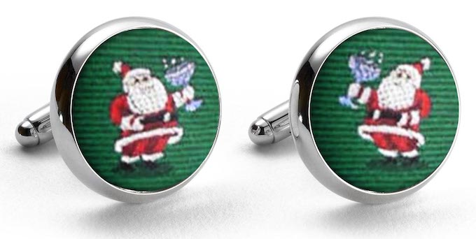 Cocktail Kringle Cufflinks in Green/Bird Dog Bay