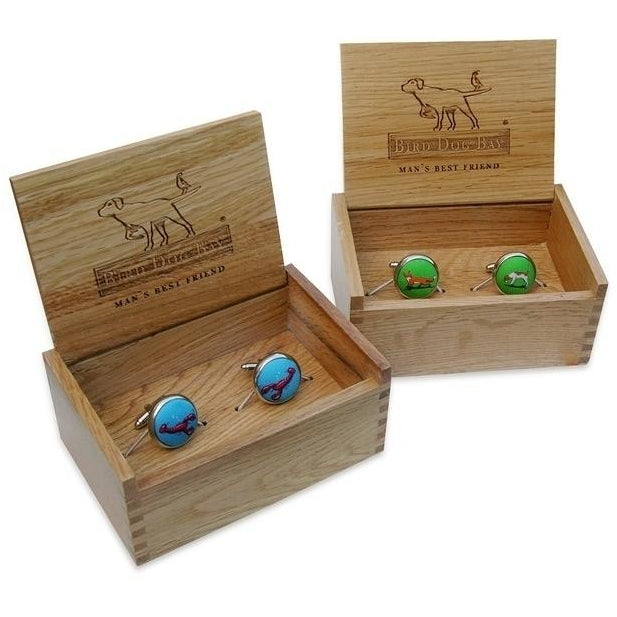 Skulls Pedigree Cuff Links in Violet/Bird Dog Bay