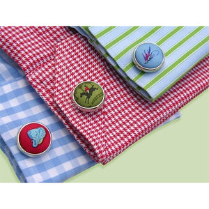Texas Star Woven Club Cuff Links/Bird Dog Bay