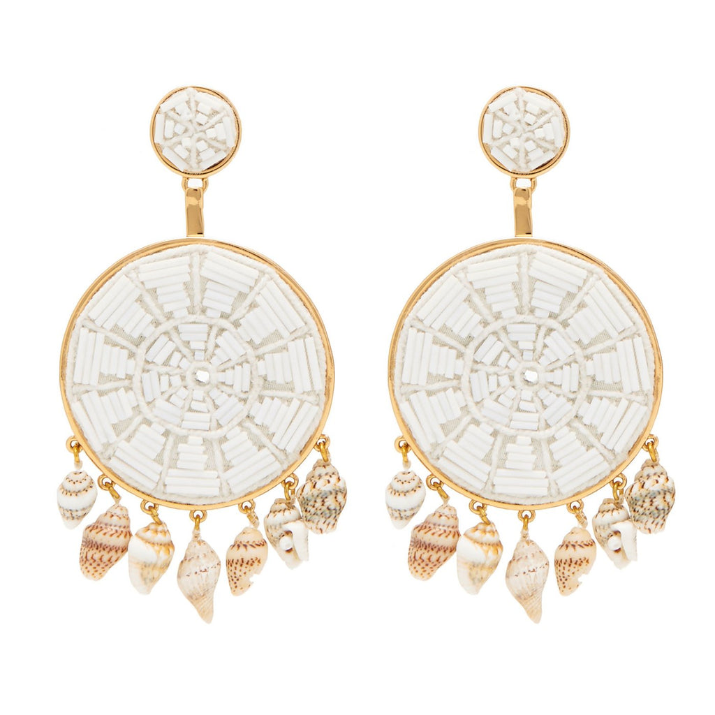 Rachel Earrings in White/Mignonne Gavigan