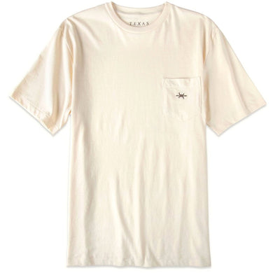 Standard Pocket Tee in Limestone/Texas Standard
