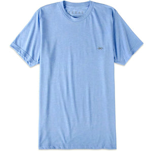 Performance Hybrid Tee in Heather Light Blue/Texas Standard