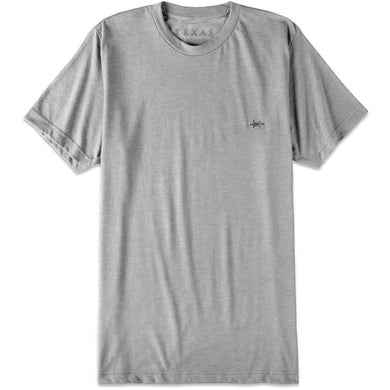 Performance Hybrid Tee in Heather Gray/Texas Standard
