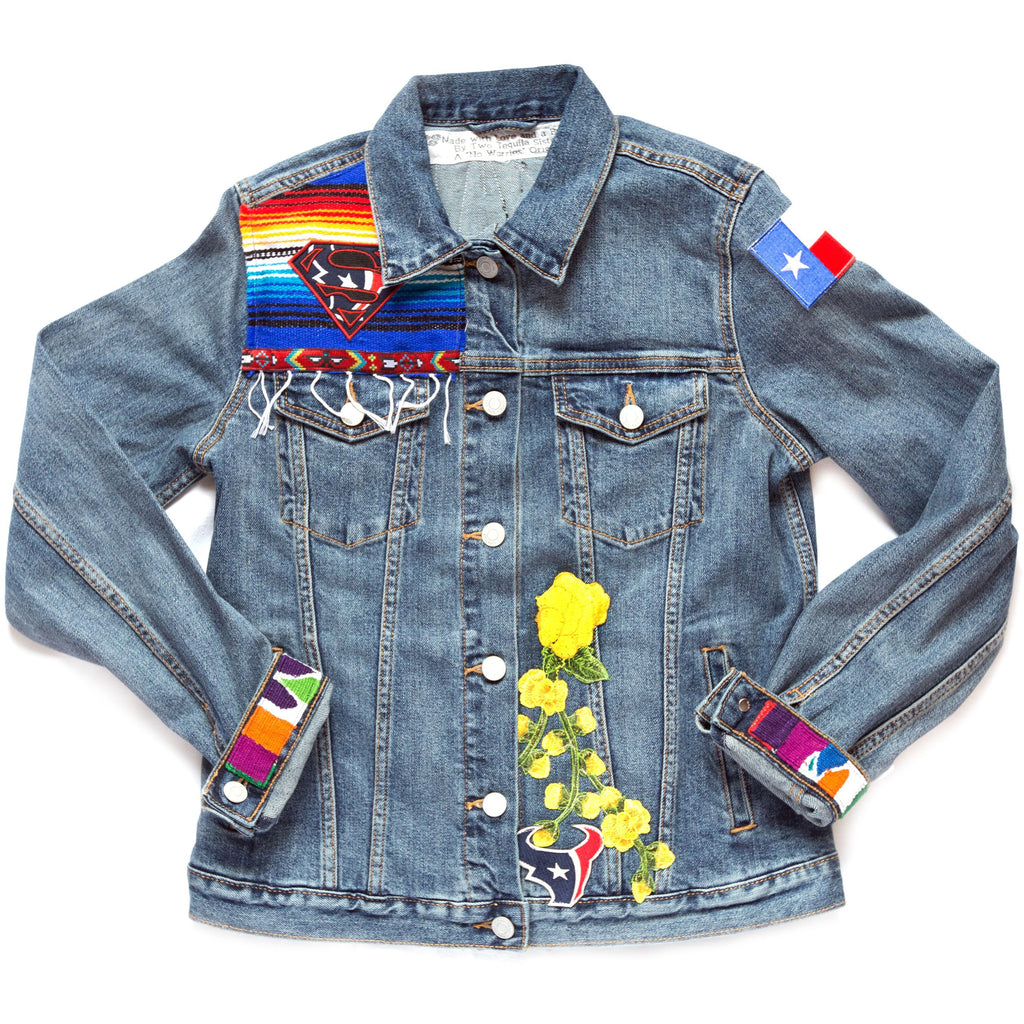 Texans Denim Jacket/Two Tequila Sisters