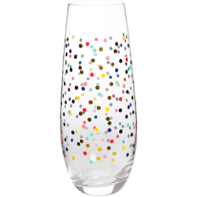 Confetti Champagne Stemless Glass (Set) /Slant Collections