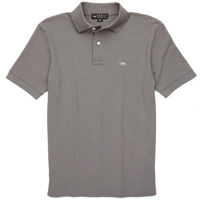 Standard Polo in Gunpowder Gray/Texas Standard