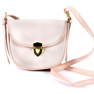 Mini Saddle Bag in Pink Cobra/Sarah Stewart