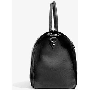 Women's Black Leather with Gunmetal Hardware Weekender Bag/Hook & Albert