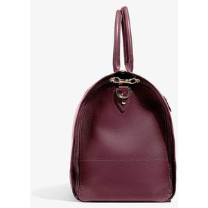 Women's Bordeaux Leather with Gold Hardware Weekender Bag/Hook & Albert
