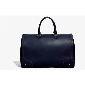 Women's Navy Leather with Gold Hardware Weekender Bag/Hook & Albert