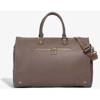 Women's Taupe Leather with Gold Hardware Weekender Bag/Hook & Albert