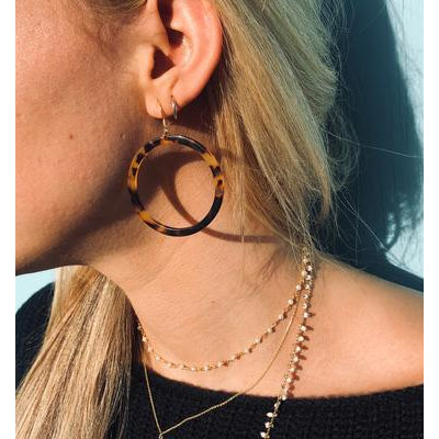 Blakely Tortoiseshell Hoops/Nikki Smith Designs