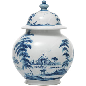 "Country Estate Delft Blue 10"" Lidded Ginger Jar/Juliska"