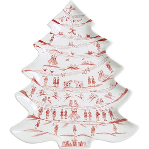 Country Estate Winter Frolic Ruby Tree Platter/Juliska
