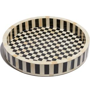 Checkered and Striped Serving Tray/LeLe Sadoughi