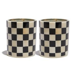 Checkered Votive Candles/LeLe Sadoughi