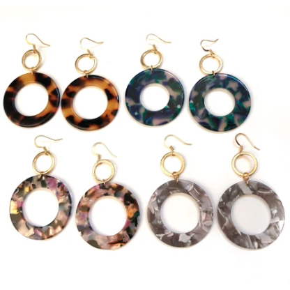 Claire Double Circle Earrings/Nikki Smith Designs