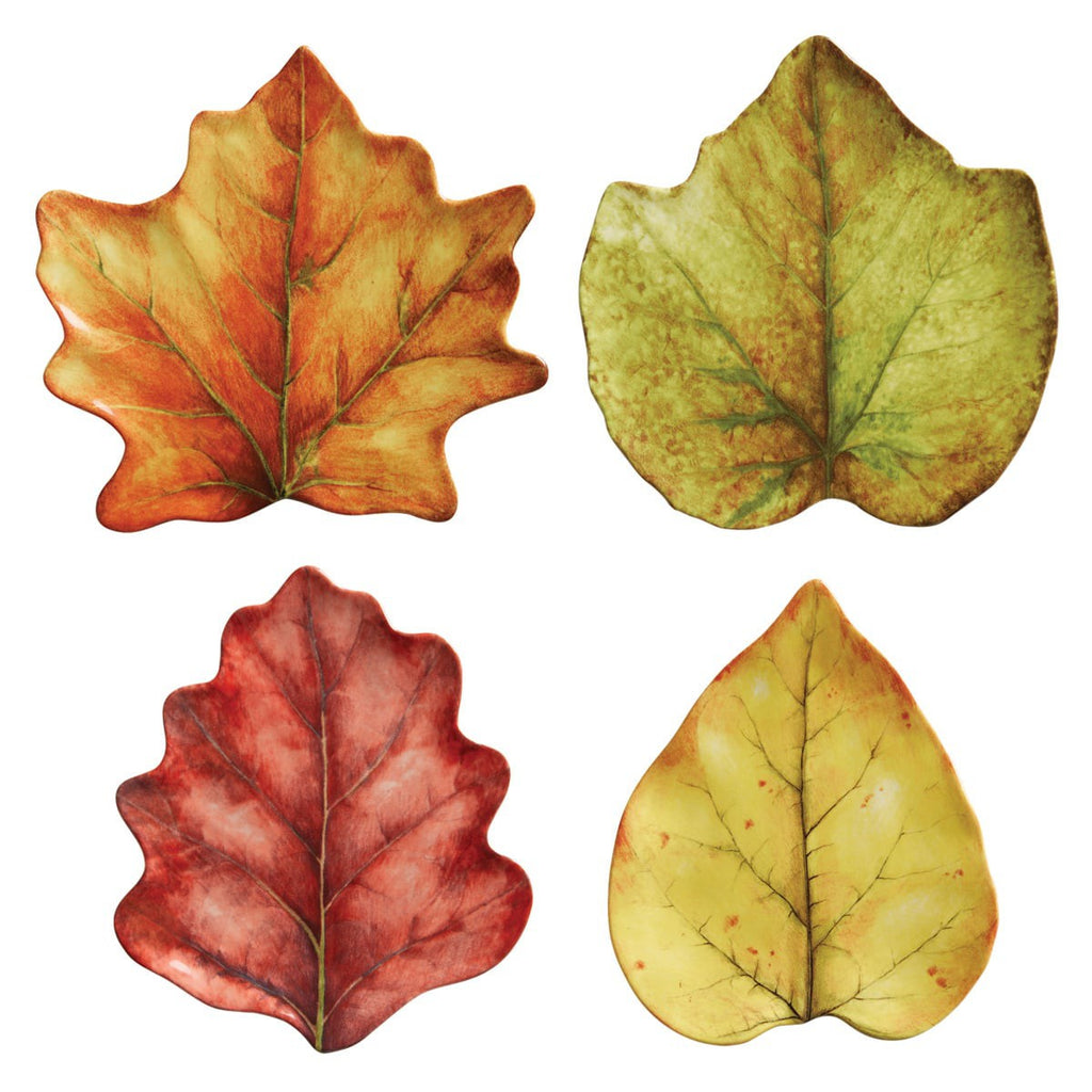 Forest Walk Leaf Cocktail Plate Set of 4/Juliska