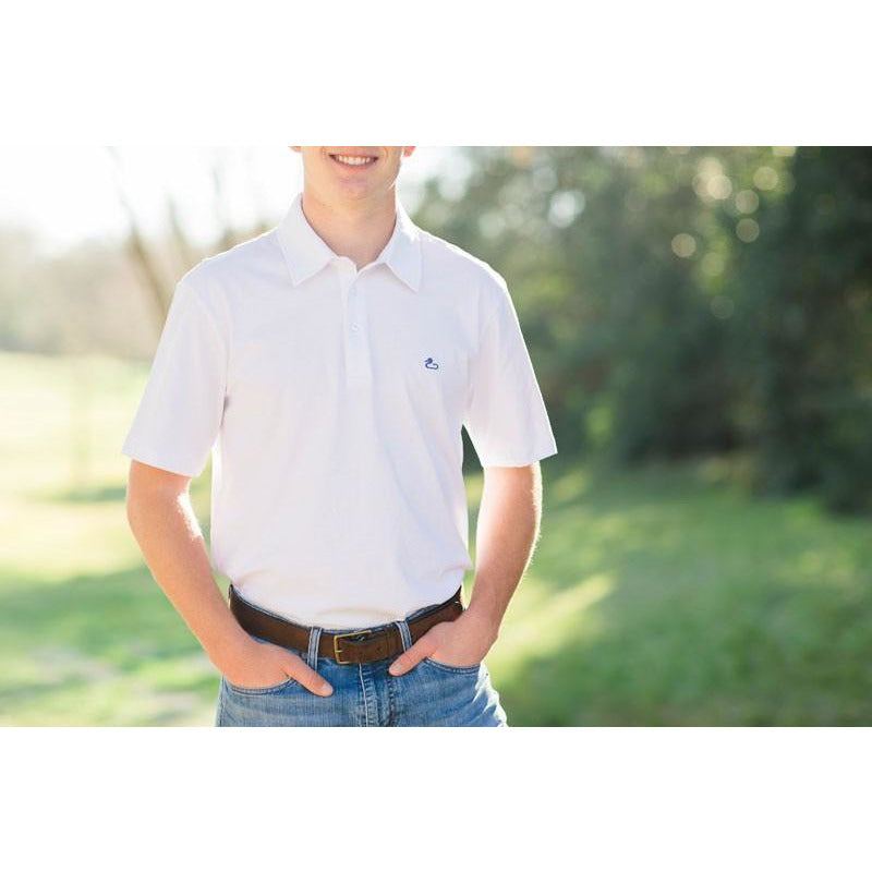 Delta Cotton Polo White/Gunner and Hook
