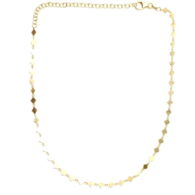 Gold Diamond Chain Choker/Nikki Smith Designs