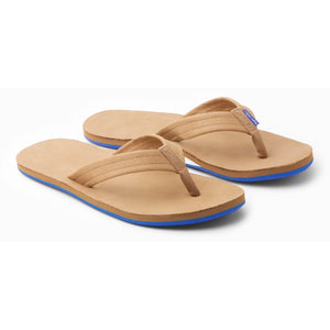 Men's Fields Sandal in Tan,White & Blue/Hari Mari