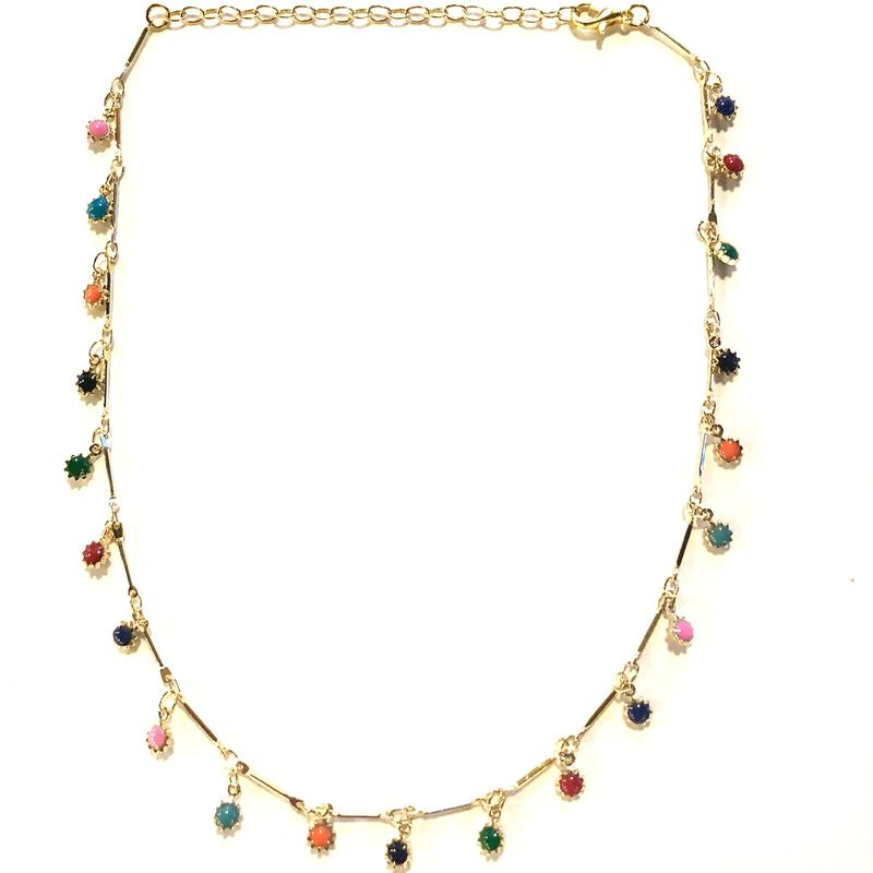 Fiesta Charm Choker/Nikki Smith Designs