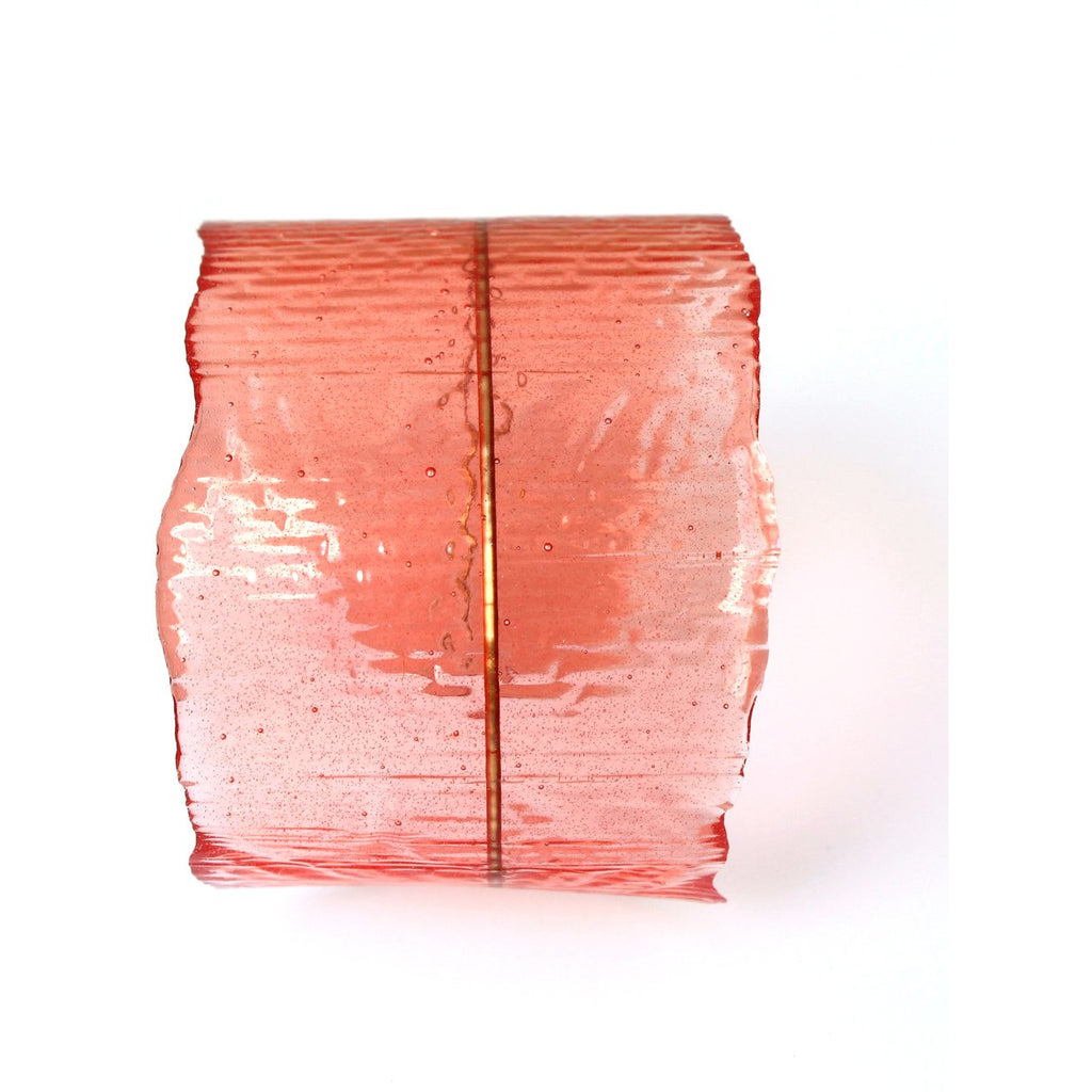 Resin + Brass Cuff Bracelet in Rose/Object Make and Model