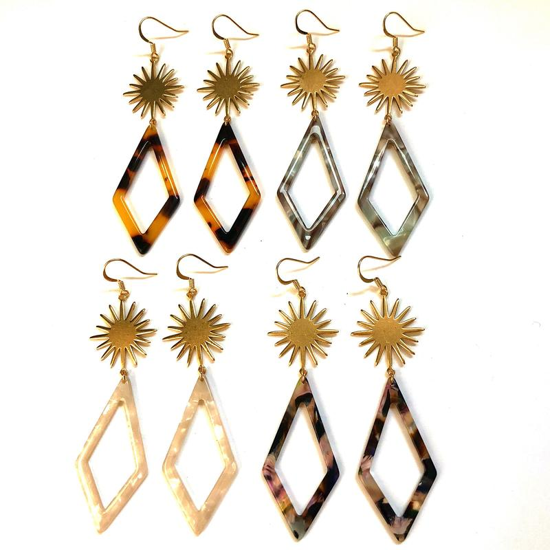 Mila Starburst Earrings/Nikki Smith Designs
