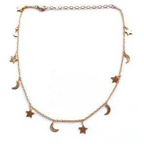 Moon and Star Charm Choker/Nikki Smith Designs