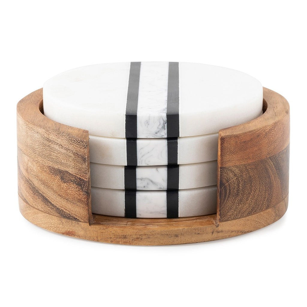Stonewood Stripe Coaster Set/Juliska