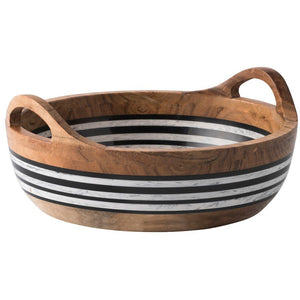 Stonewood Stripe Round Serving Bowl/Juliska