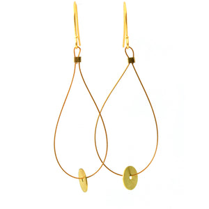 Brass Mini Circle Disk Earrings/Object Make and Model