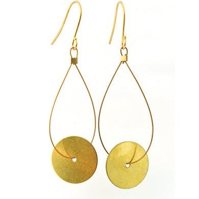 Brass Round Disk Earrings/Object Make and Model