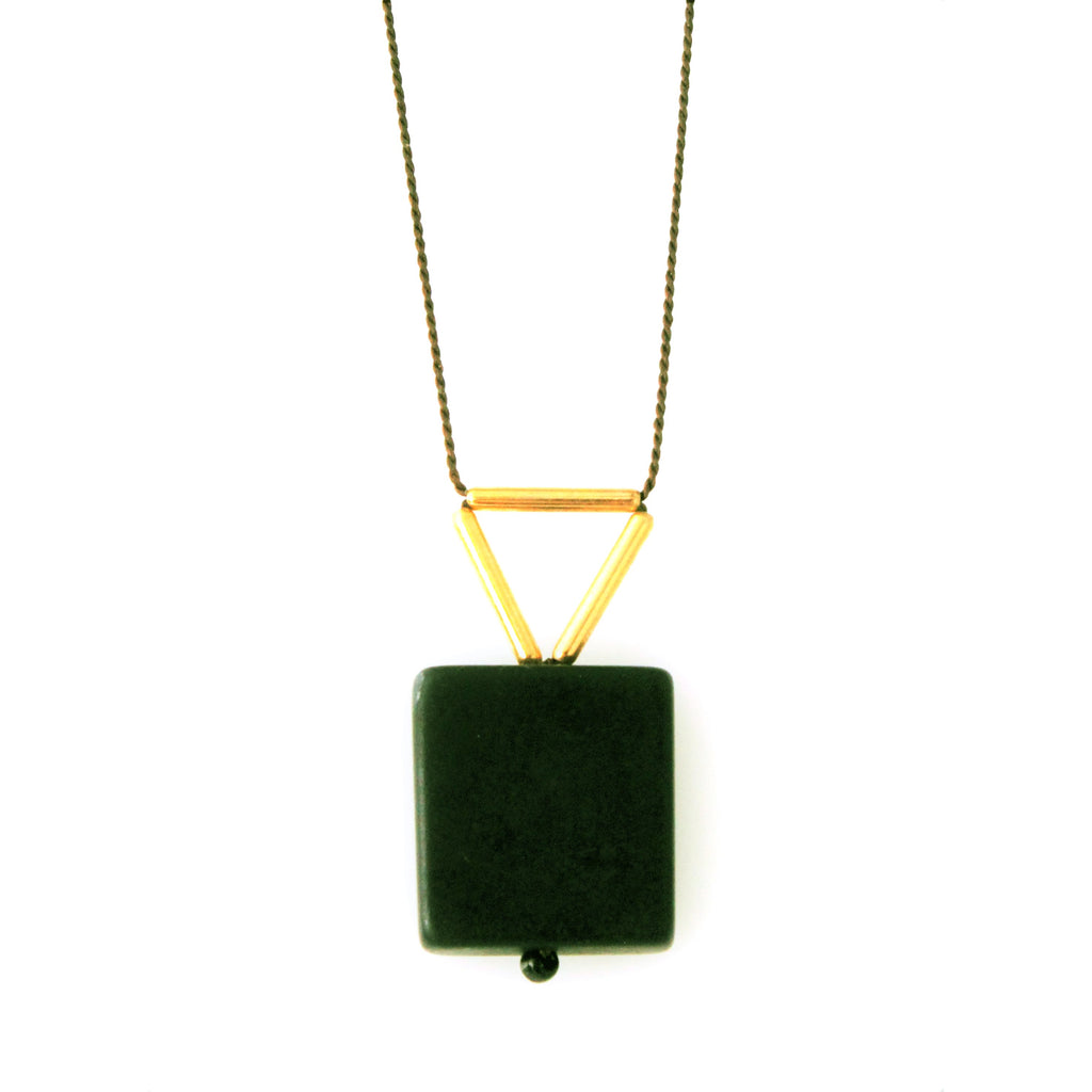 Blackstone with Gold-Plated Brass Necklace/Object Make and Model
