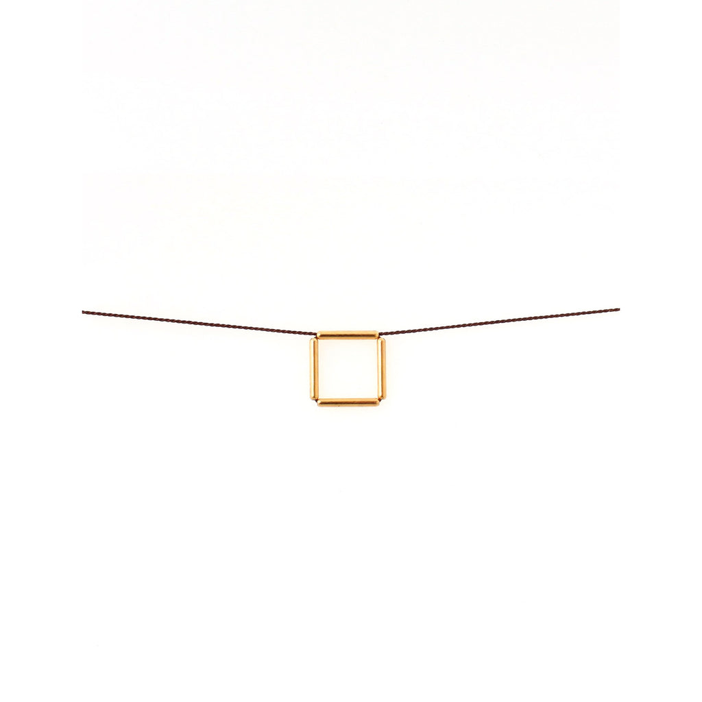 Gold-plated Brass Square Choker/Object Make and Model