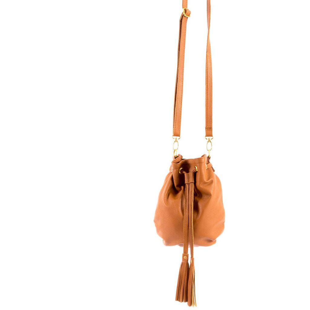 Cindy Crossbody in Caramel/Sarah Stewart