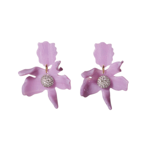 Small Crystal Lily Earrings/LeLe Sadoughi